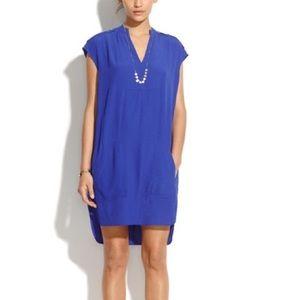 Madewell Morningside Shift Dress in Royal Blue